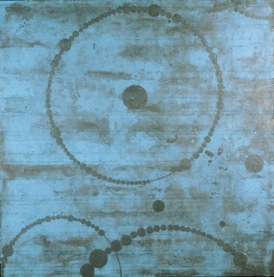 Full Circle Universe, 2003  encaustic and oil on panel 51 x 51 inches  Permanent Collection, Portland State University