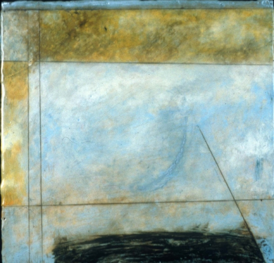 South Down, 2002  encaustic and oil on panel 12 x 12 inches  Private Collection
