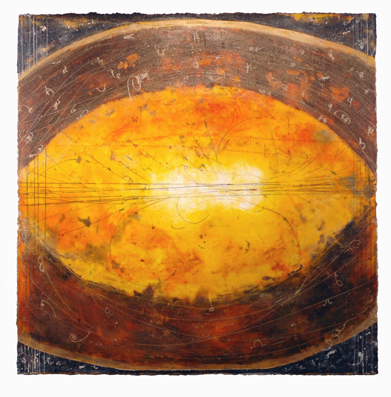 Magnetic Parallel,  encaustic and oil on panel 48 x 48 inches.   Inquire for price.