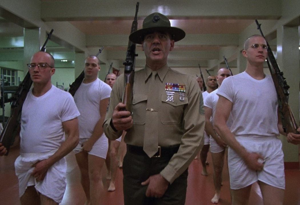 Full Metal Jacket  employed a genuine Drill Sergeant in the training scenes. Just like  Captain America !