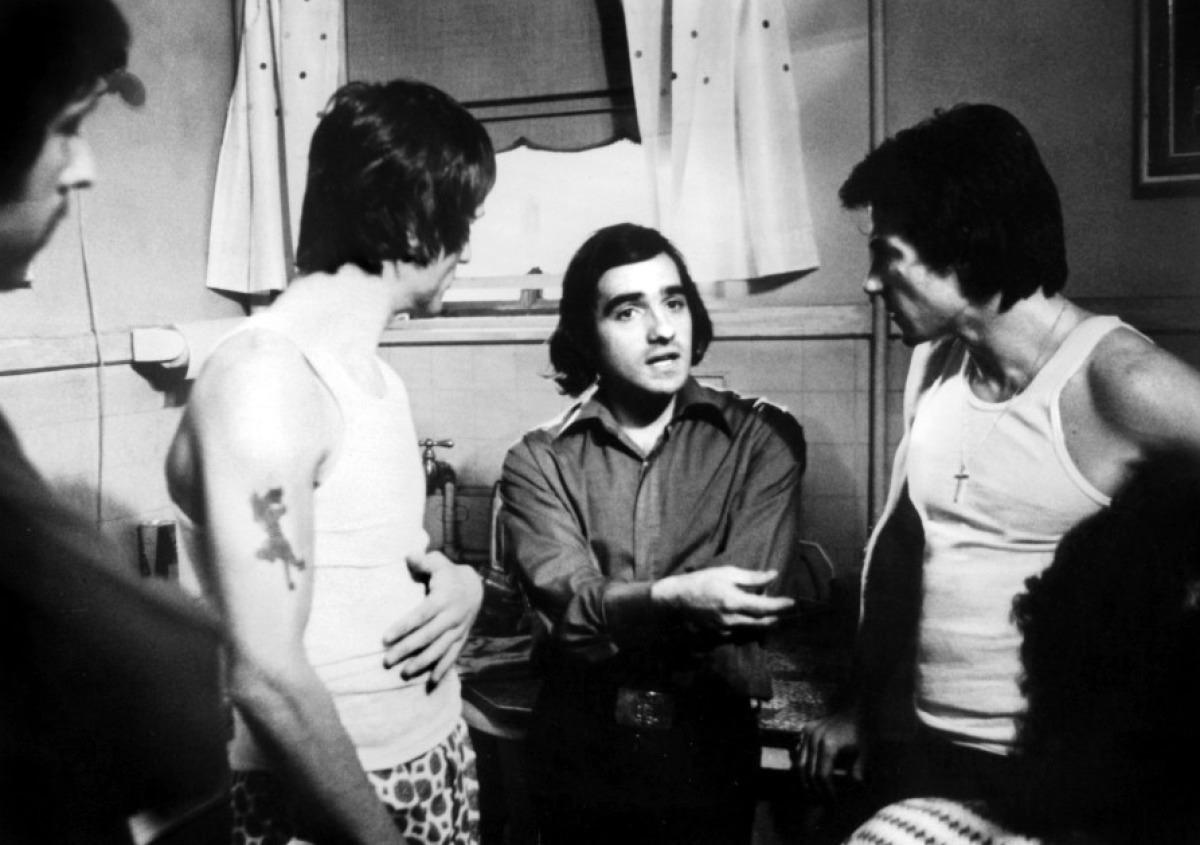 Scorsese, De Niro and Keitel on 'Mean Streets', 1973.