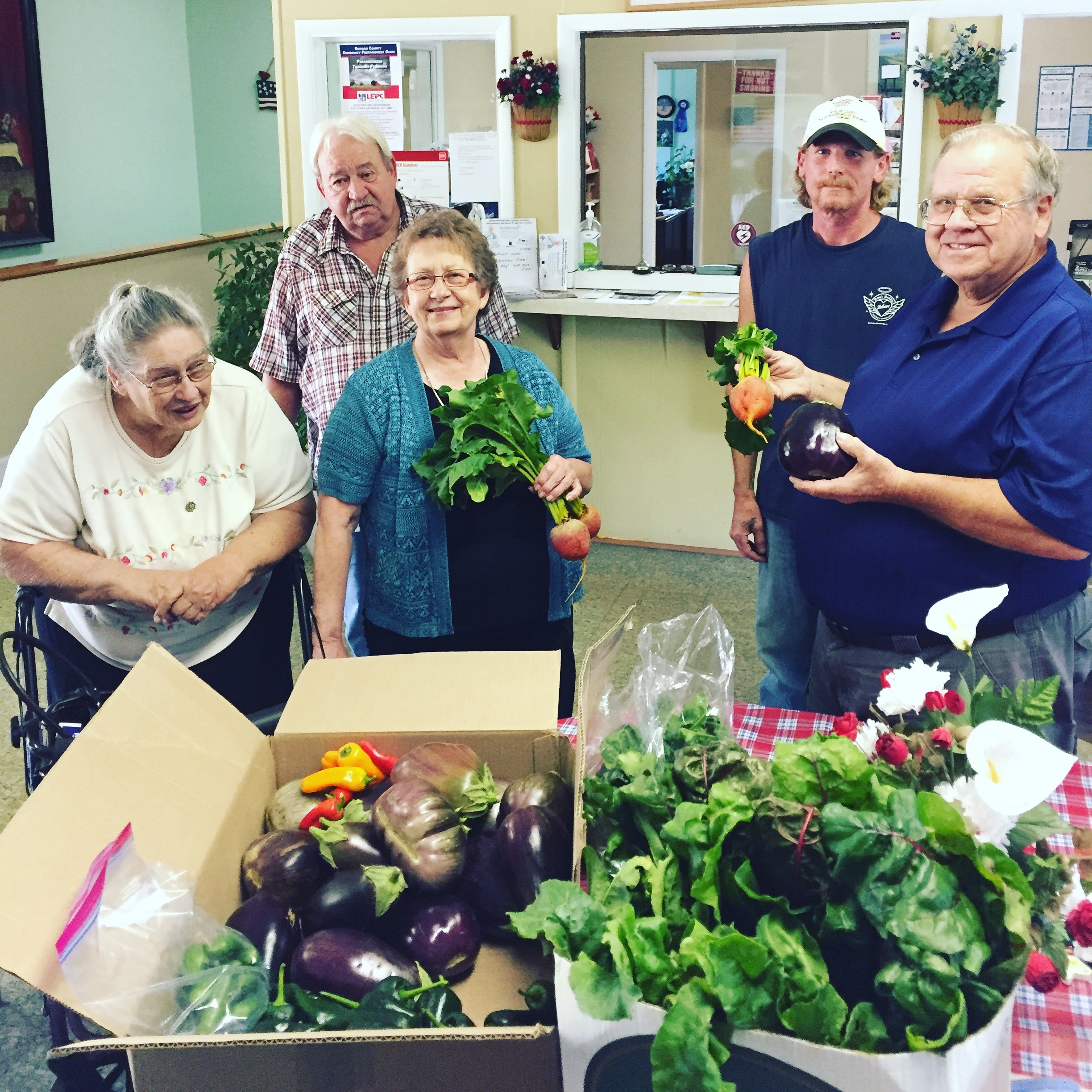 Late summer donation to the River Valley Senior Center