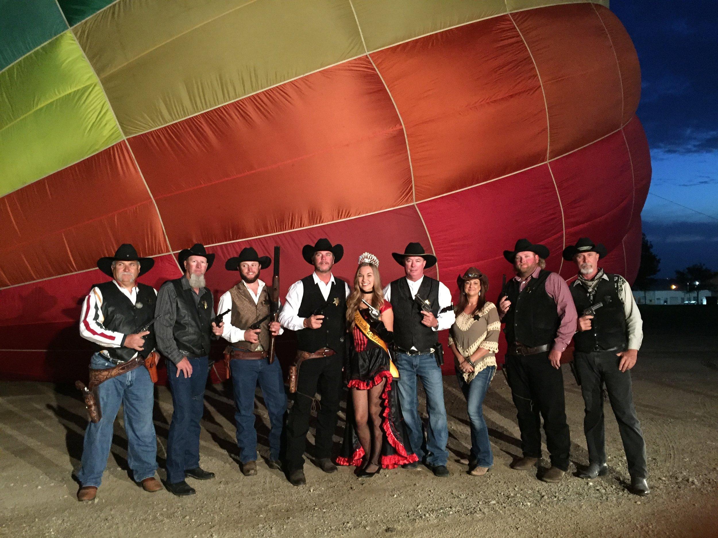 Sheriff's Posse and Queen of Petroleum Maddison Rubadeau - Hot Air Balloon Festival  - Oildorado 2015