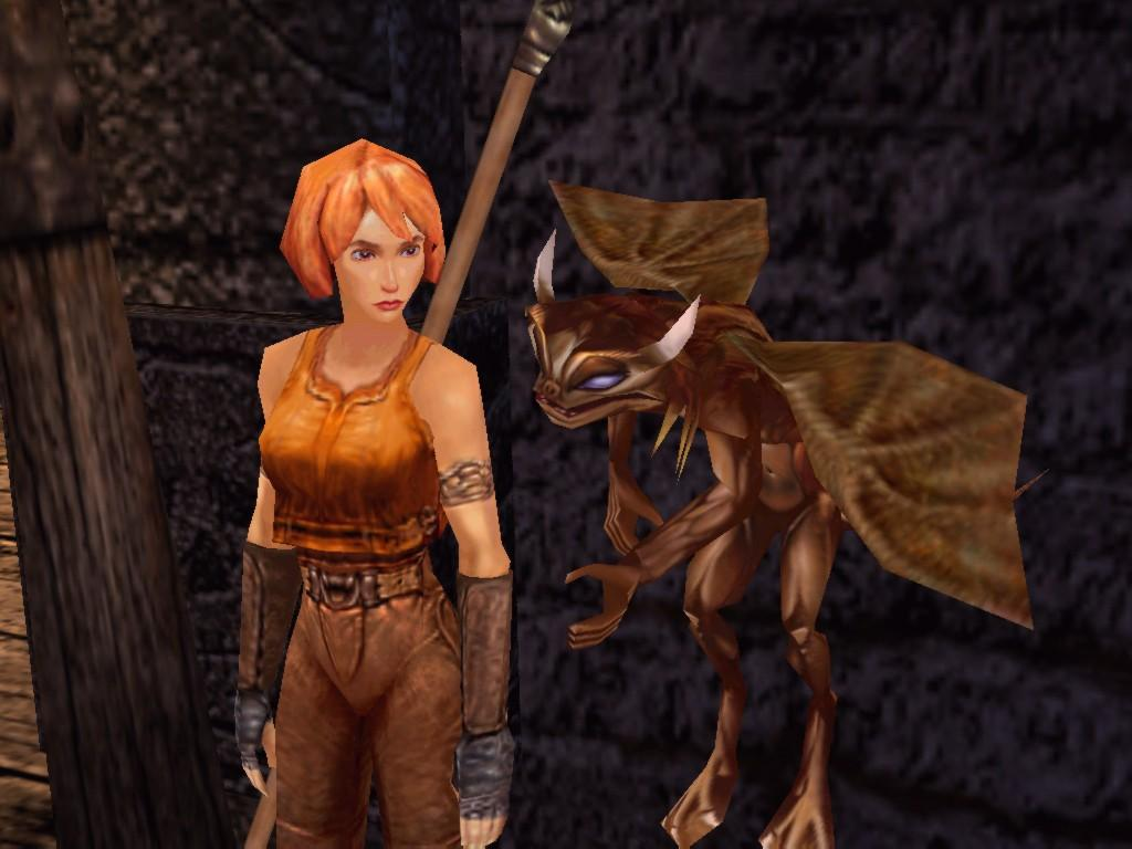 "Skye of Lynlorra in the video game ""Darkened Skye"" is voiced by Linda Larkin."