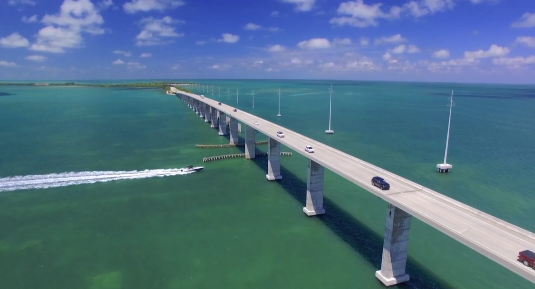 Drone shot from our Florida Keys Episode 210