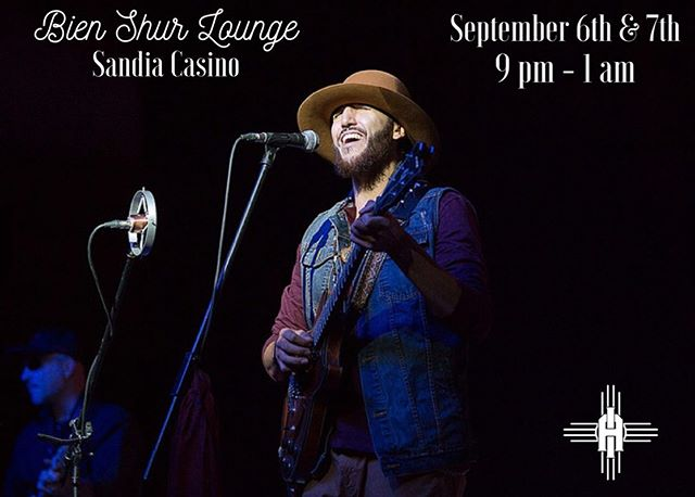 If you weren't able to get tickets to tonight's show (or if you were), you can still catch me and the band after the show up at the Bien Shur Lounge 9 Stories up above the beautiful city of Albuquerque in the @sandiacasino hotel. Come on out! 🤙🏽 #livemusic #isaacaragon #thehealing