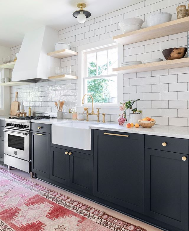 We are so excited to announce that the Townsend Home X Kokeena Collection is LIVE! 🎉 With all of the fun kitchen projects we've worked on over the last few years we quickly started to realize that kitchens are a top priority and sometimes the budget just doesn't allow for custom cabinets.  @kokeenadoors is a Portland-based business that makes custom wood painted door and drawer fronts that fit the ever affordable Ikea cabinet frames.  The Townsend Home Collection features an organic selection of nature inspired neutrals and our go-to color staples for kitchen cabinetry. Click the link in our profile to see the full collection! (cabinet color featured in photo is Midnight)  design by @townsend_interiors  photo @dibblephoto