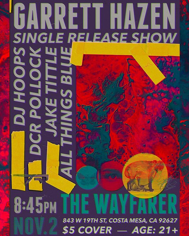 Catch my single release show @wayfarercm Friday Nov. 2nd with @jaketittle @allthingsbluemusic and @dcrpollock Design by @blake.gif