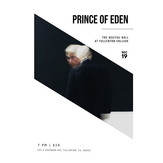 I'm opening for @princeofedenofficial on Wednesday. It's gonna be unreal, you should be there.