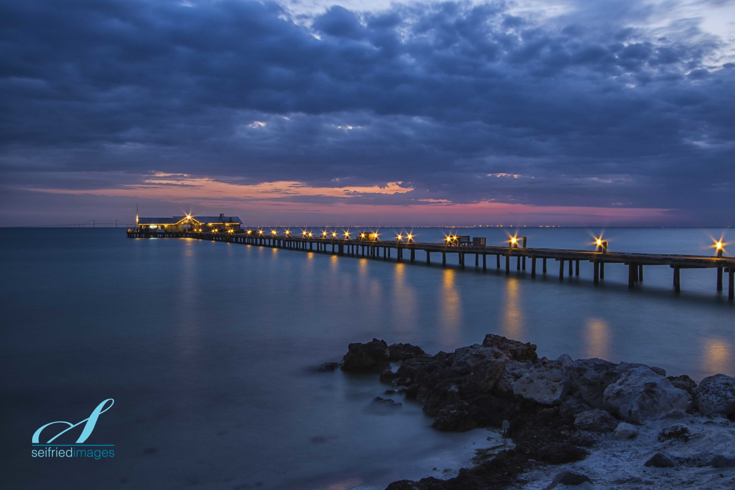 Anna Maria Island's City Pier, approximately 30 minutes before sunrise.