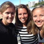 Lara, Katie, and I