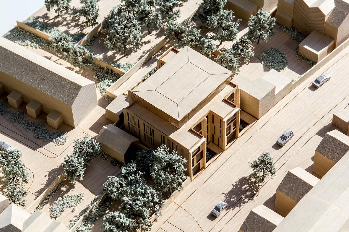 Architectual model photogrpah of the Stuart Forbes Associates designed Dalton Street scheme.