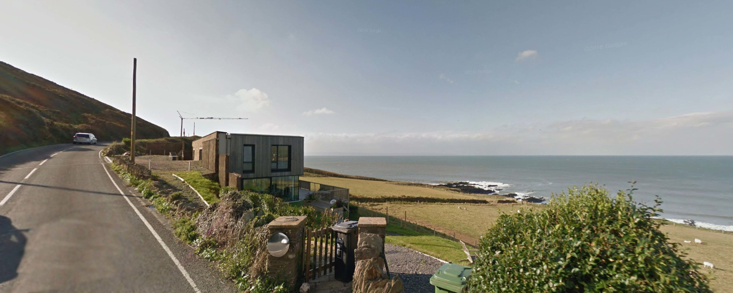 The completed scheme - located just south of Croyde on the B3231