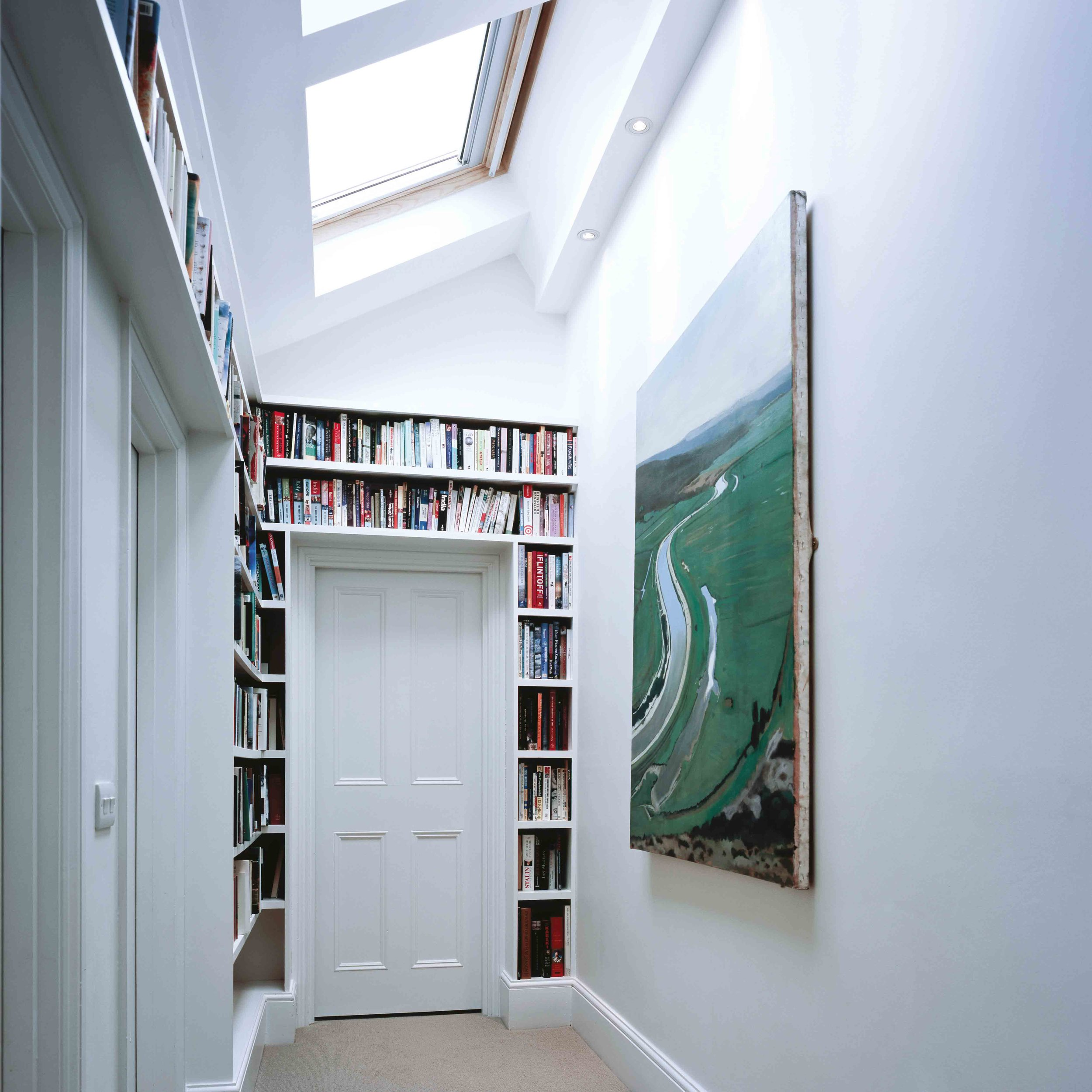 Bespoke joinery allow for corridor spaces to become libraries