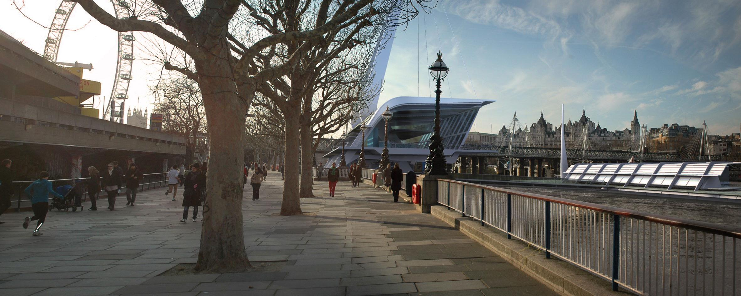 Southbank, Festival Pier, River Thames, Thames Clipper, Modern Architecture