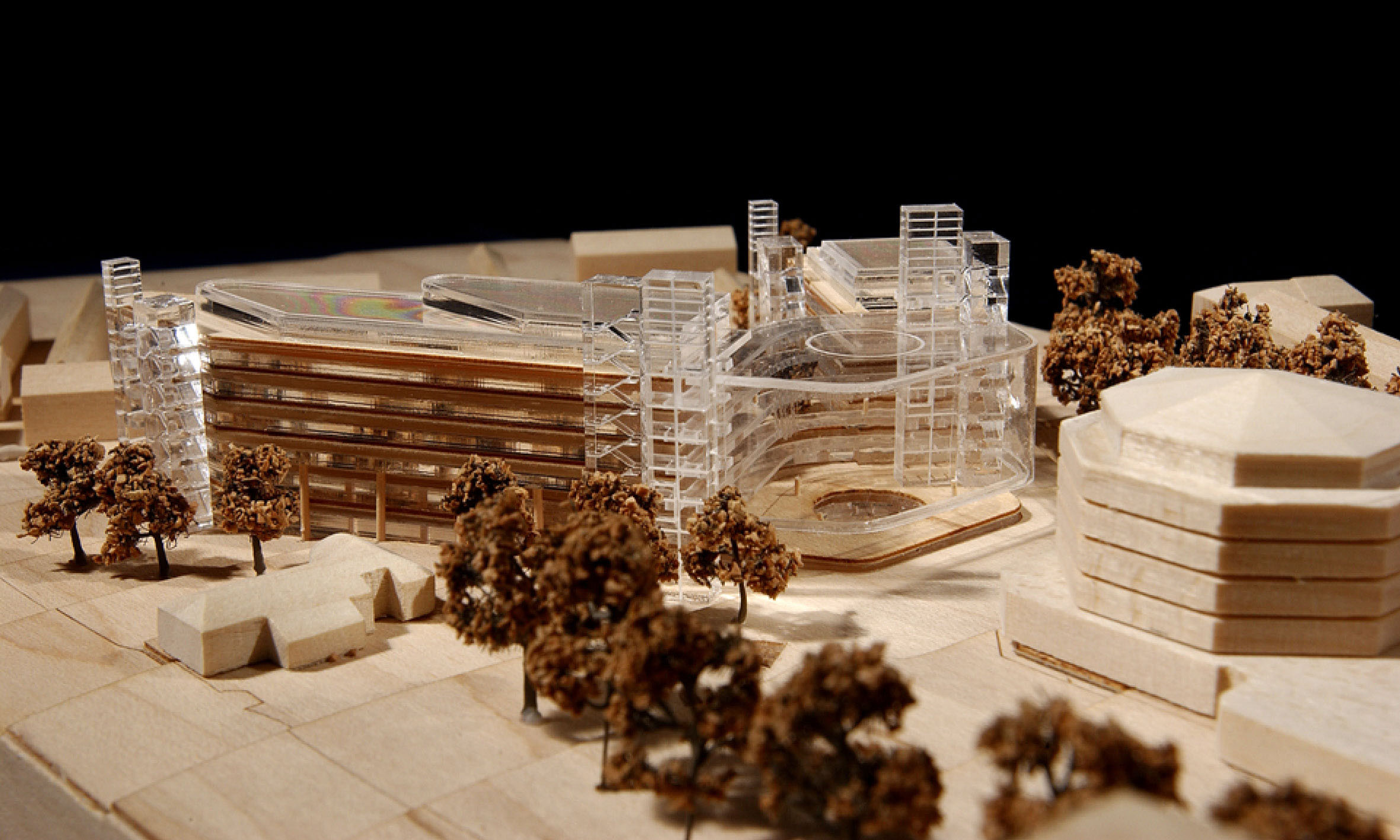 Architectural model photogrpah of the Blackrock Clinicn, Rubin, Ireland proposa.