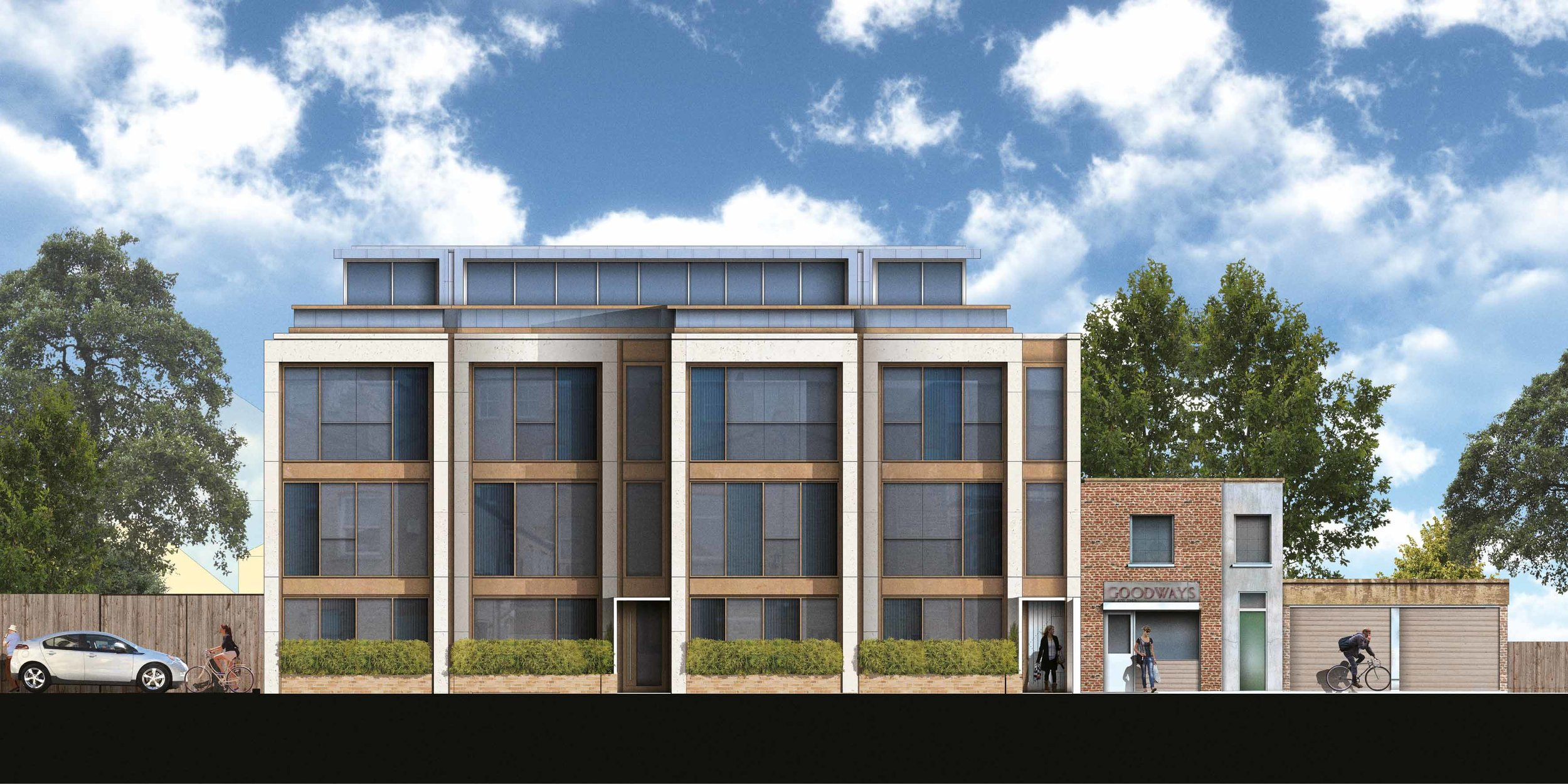 Stuart Forbes Associates has designed this sympathetic infill development to complete a residential pocket in West Norwood. Close to the West Norwood and Lancaster Avenue conservation areas in the London Borough of Lambeth. The project is currently under planning consideration.