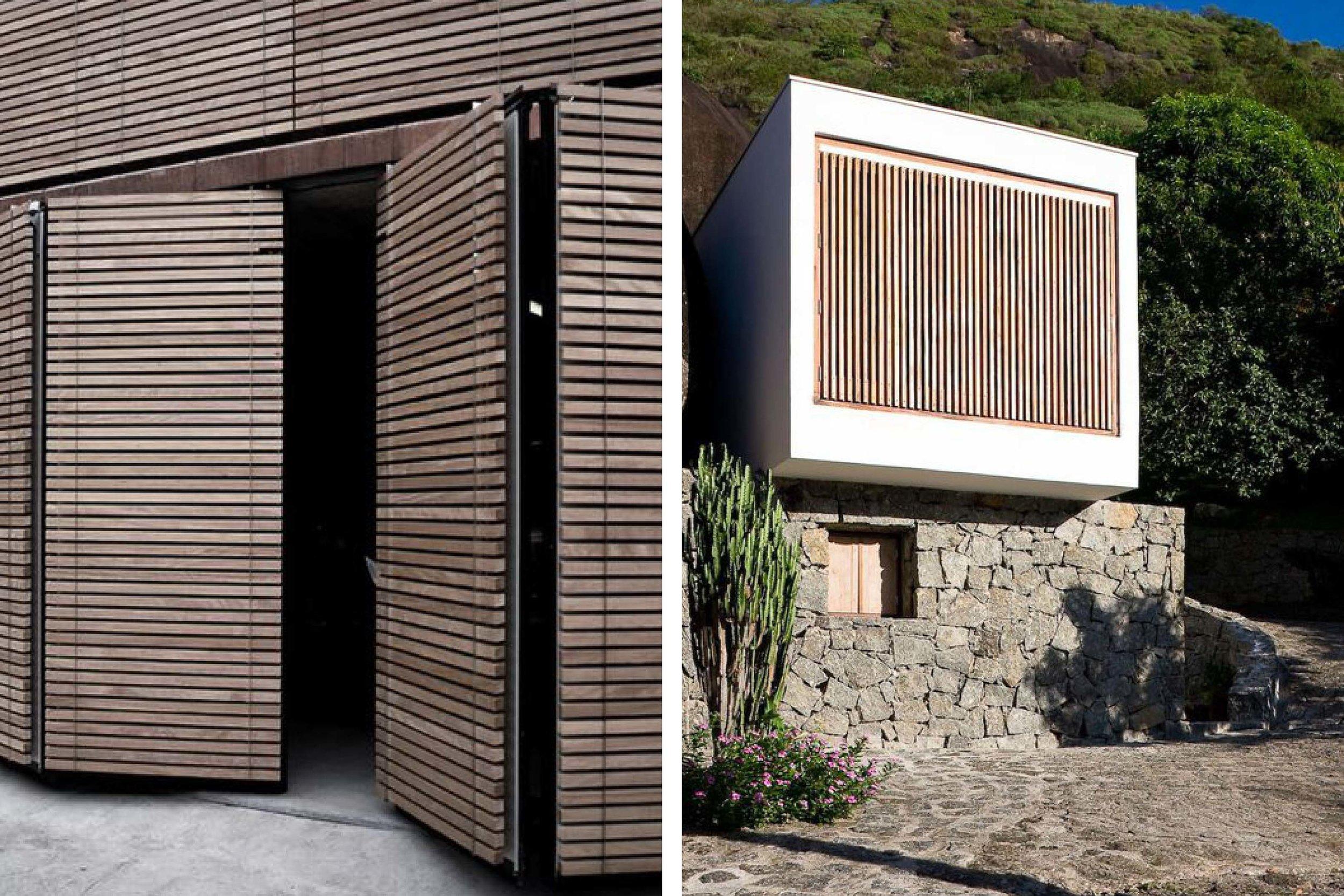 Contemporary design. Wooden materials.