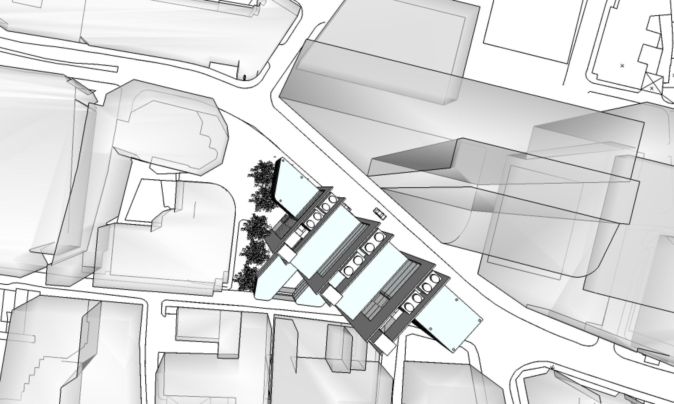 3D model - plan view - New Fetter Lane - concept architecture