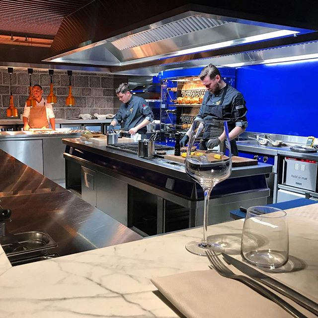 The Open Kitchen in full swing at the new restaurant @57grill at @chateaudouchy  #grill57 #chateaudouchy #newrestaurant #restaurant #lausanne #switzerland #architects #restaurantarchitects #hospitality #hospitalityarchitects #londonarchitects #riba #architecture #restaurantrefurbishment #beaurivagepalace #sandoz
