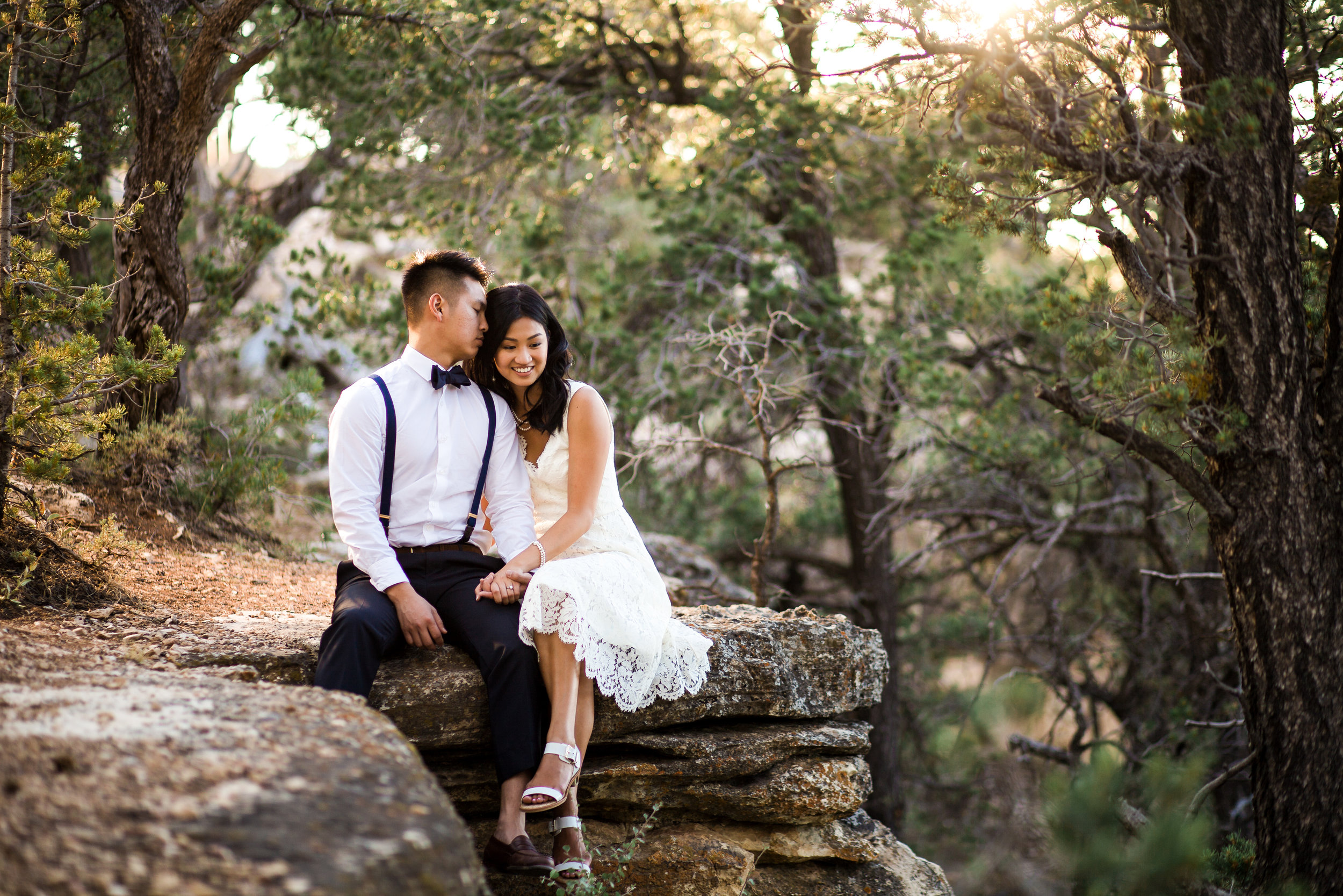 South Rim Grand Canyon Engagement