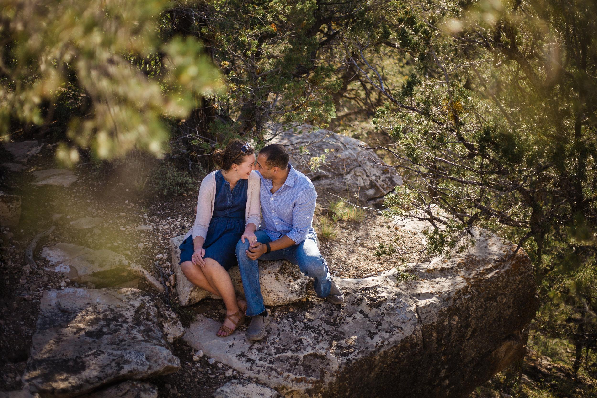 Just engaged at Grand Canyon