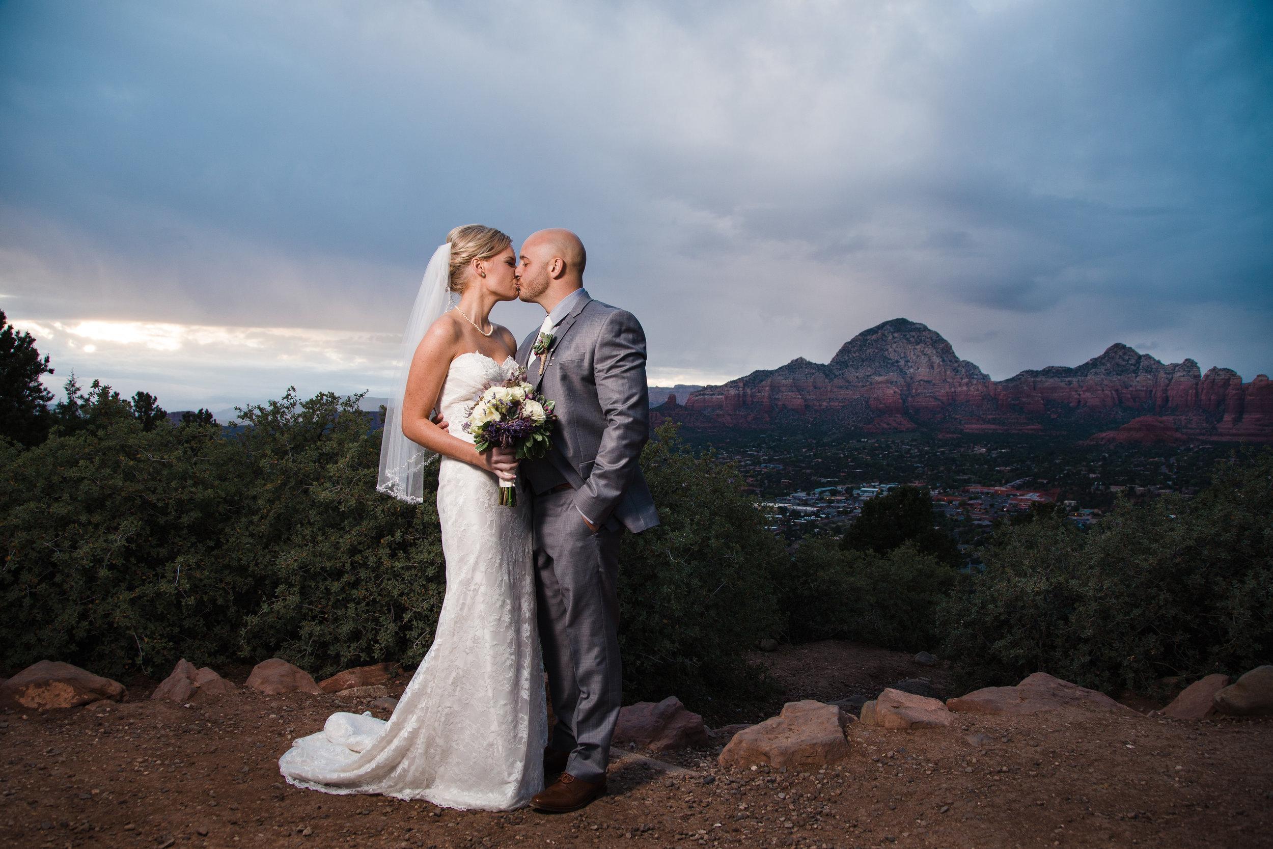 Sedona sunset wedding