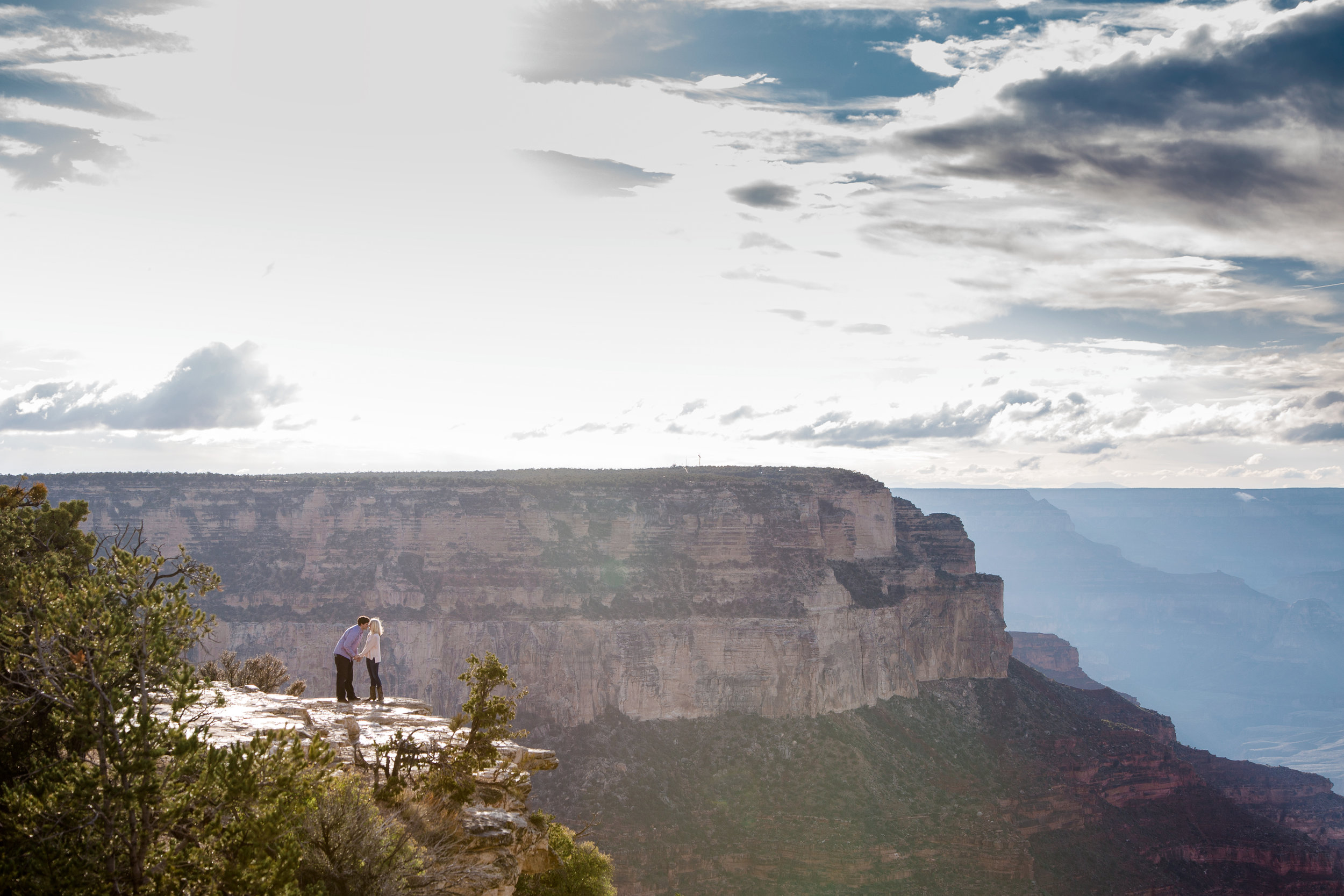 Epic Grand Canyon surprise engagement