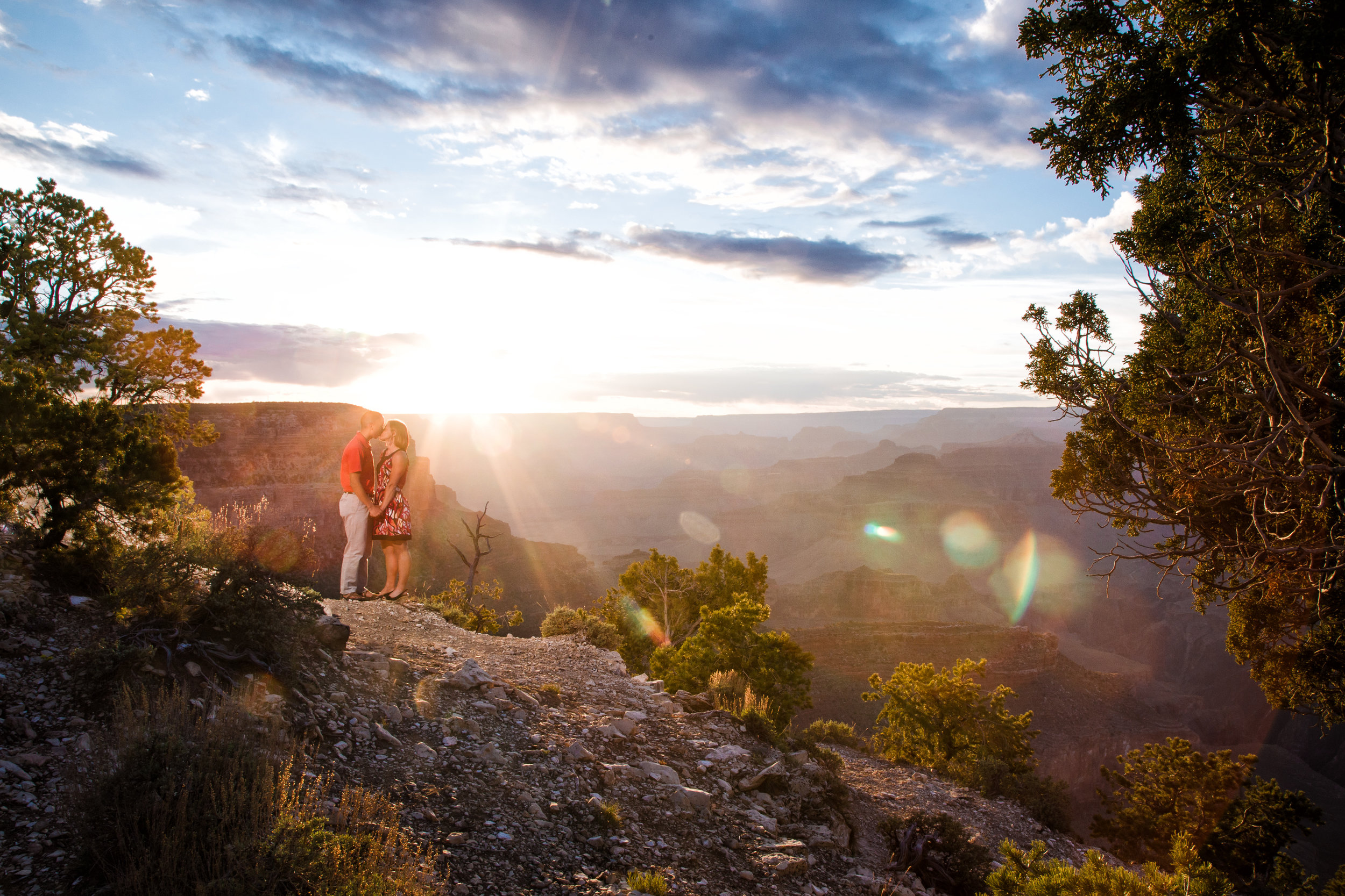 Exploding light. Grand Canyon comes alive.