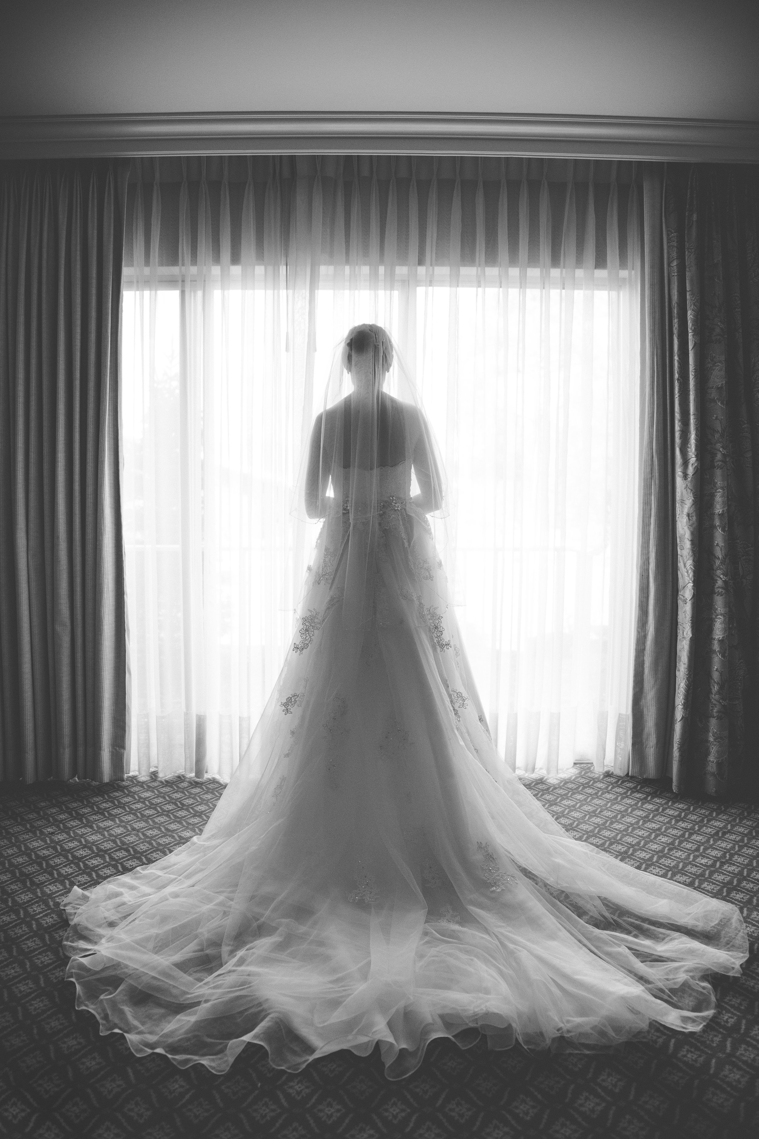 Bridal portrait, Little America wedding.