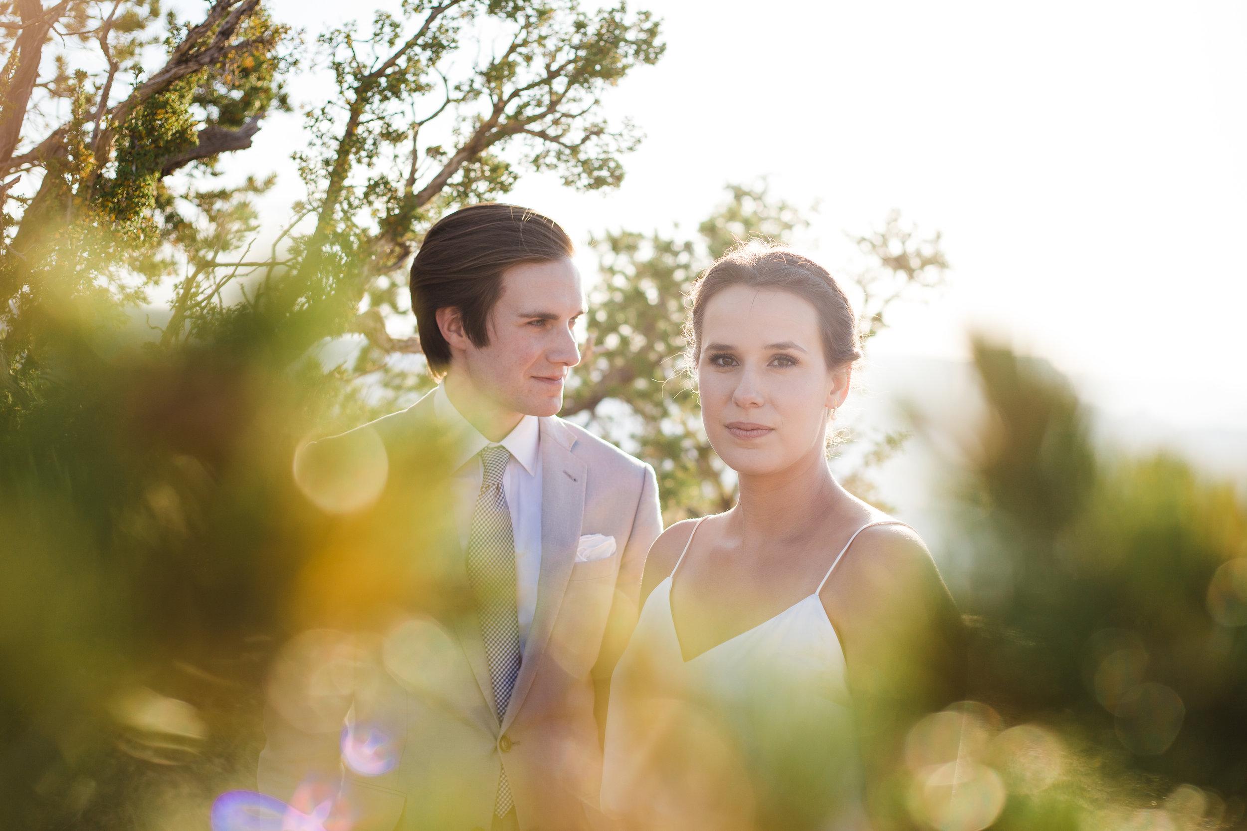 Grand Canyon wedding portrait