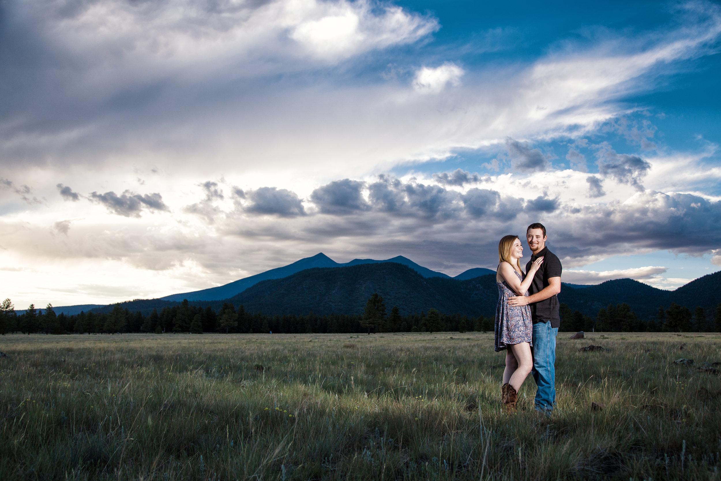 Buffalo Park engagement, Flagstaff wedding photographer