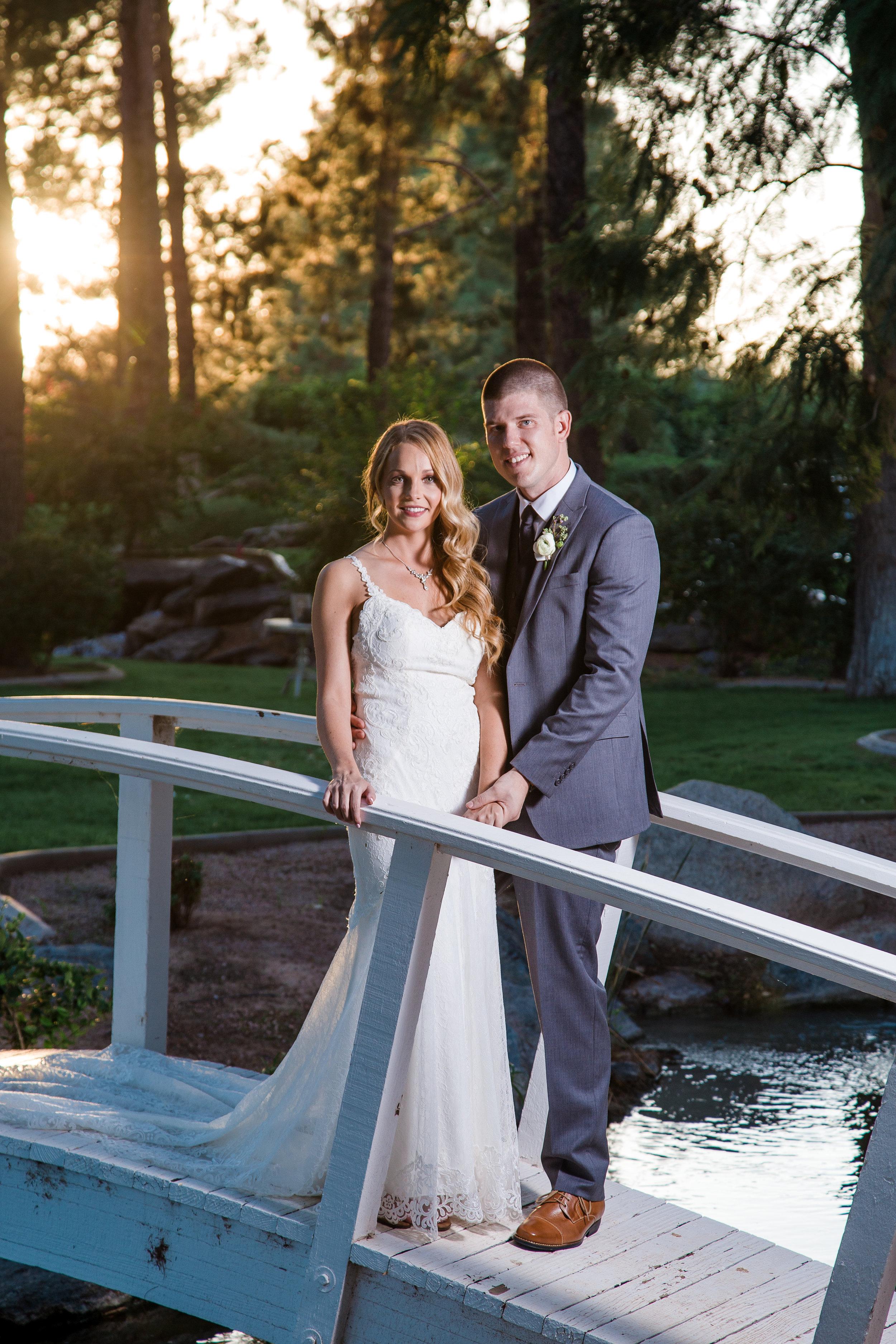Bride and groom. Chateau de Vie, Chandler, Arizona wedding.