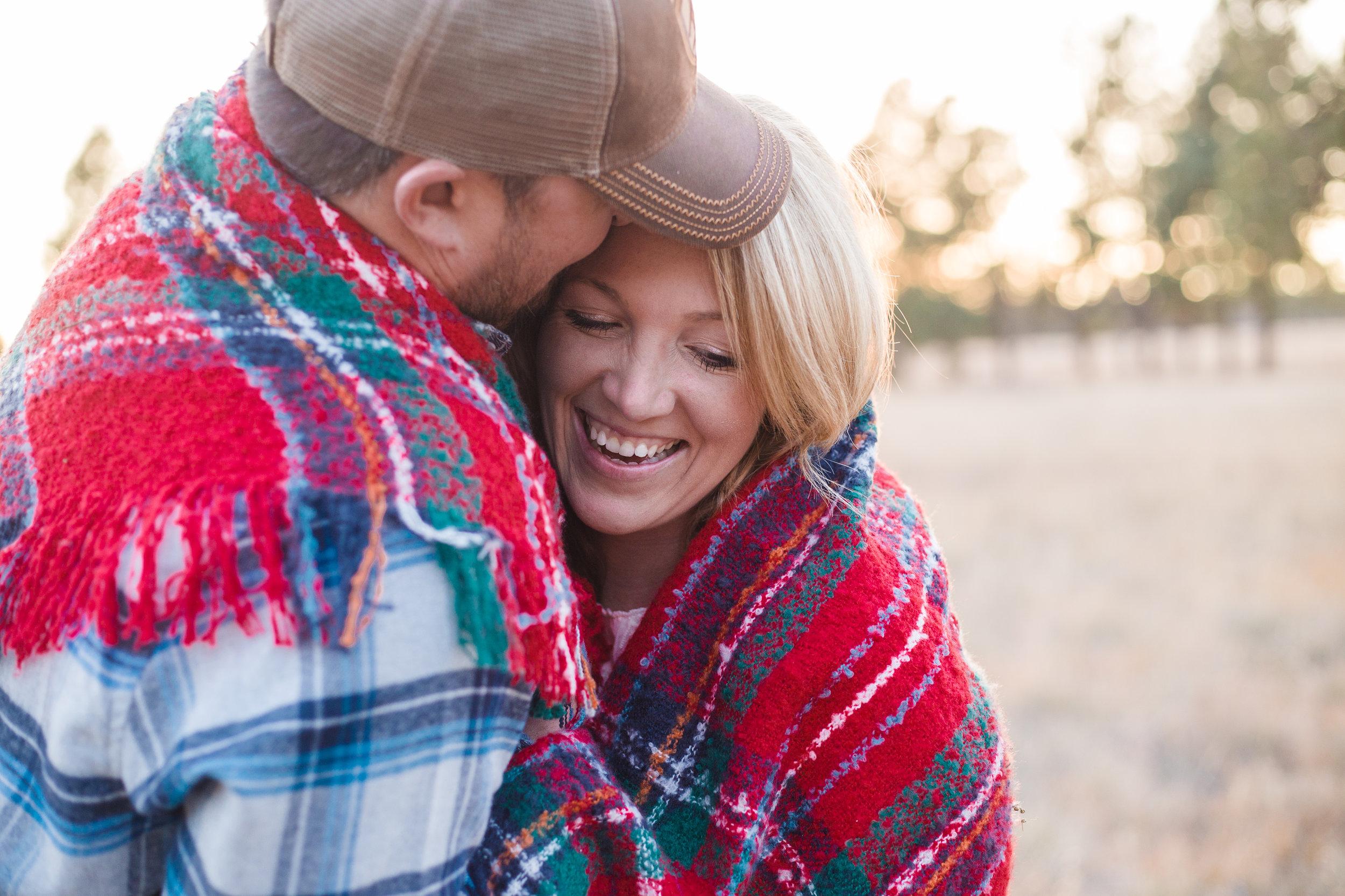 Flagstaff wedding photographer, Buffalo Park engagement photo session.