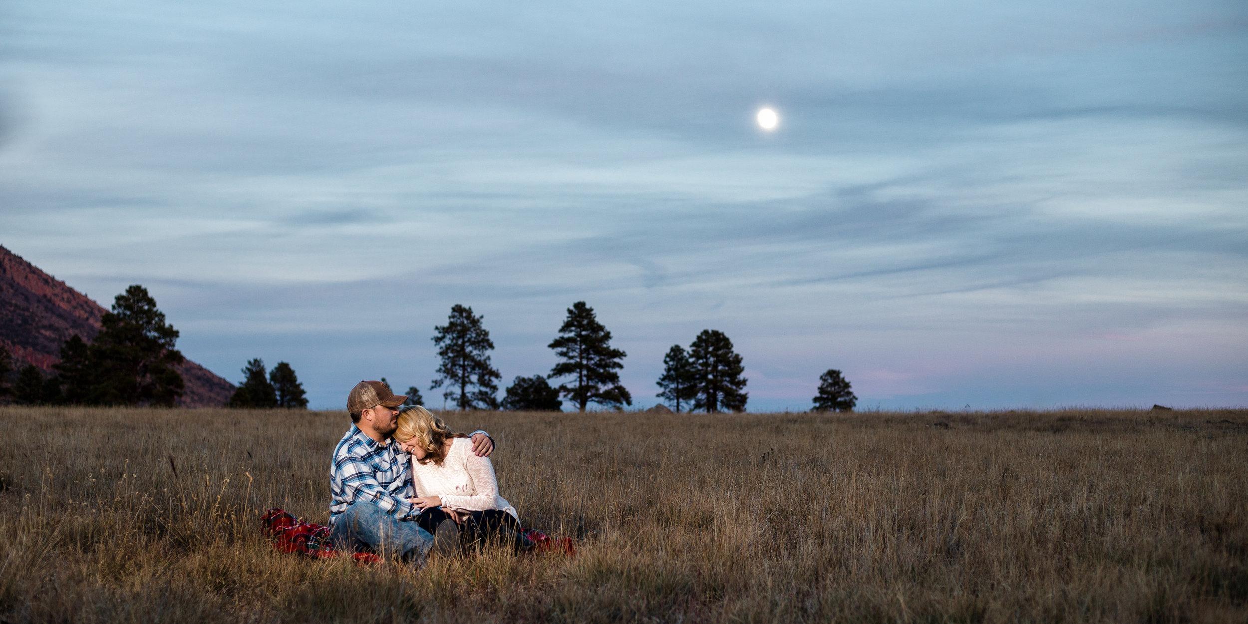 Moonrise at Buffalo Park, Flagstaff Arizona.