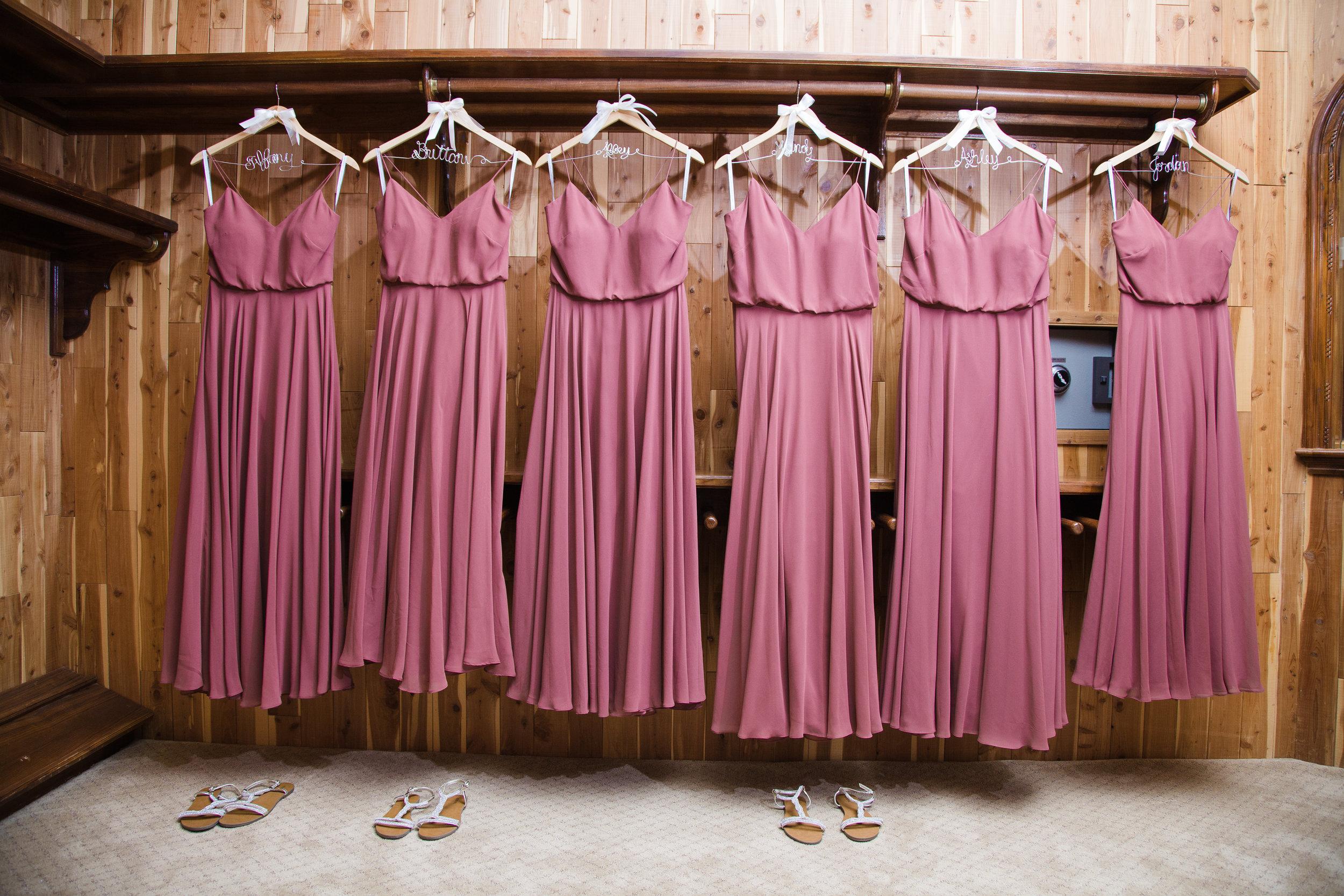 Chateau de Vie wedding details, bridesmaid dresses