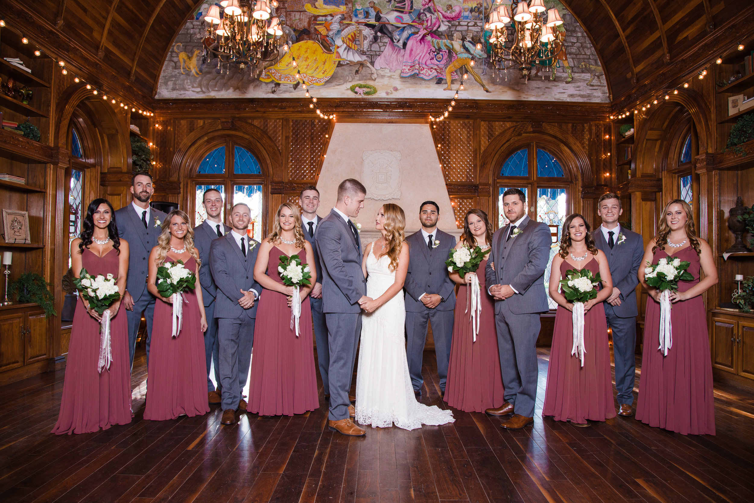 Wedding party at the Chateau de View