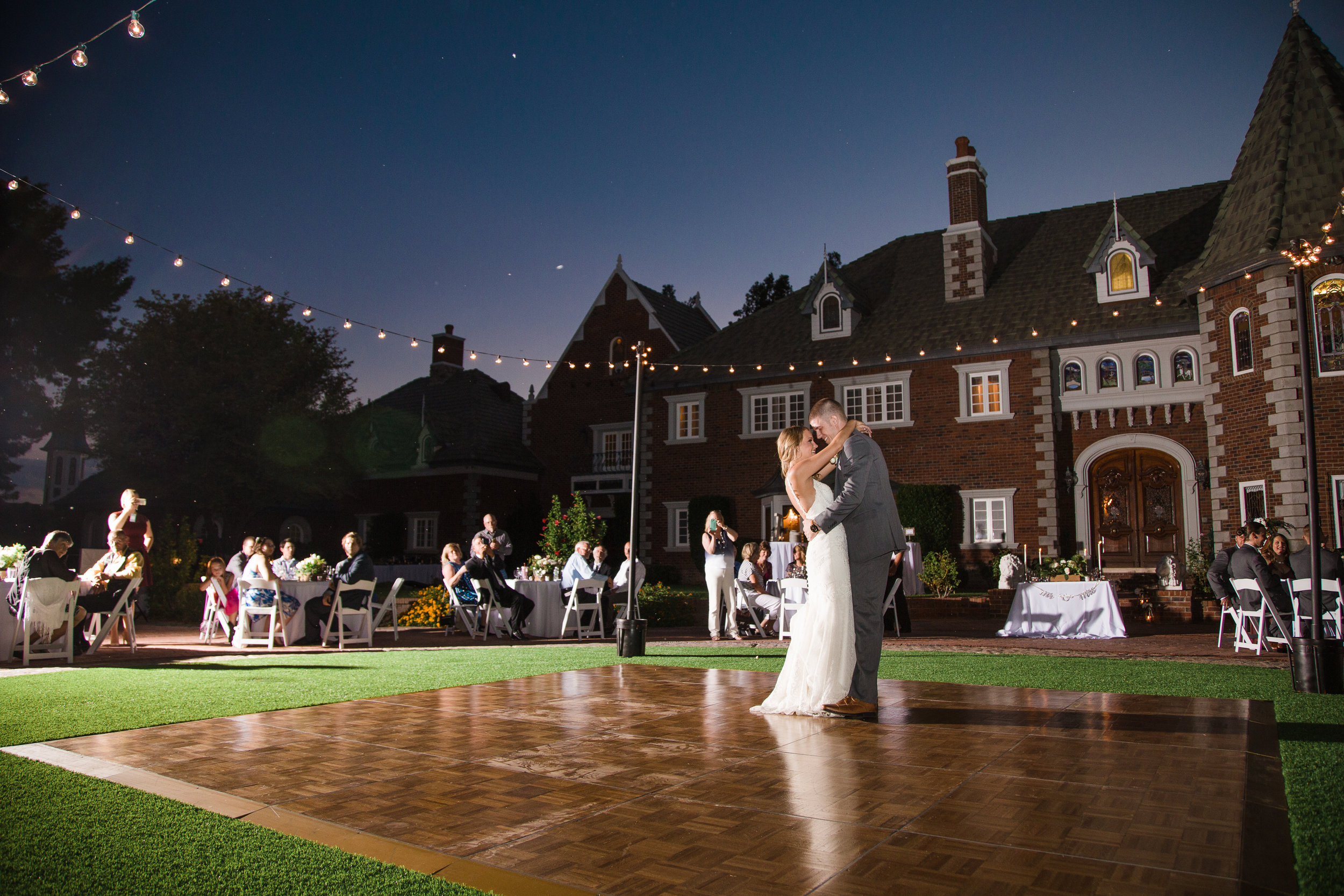 First dance at Chateau de View wedding