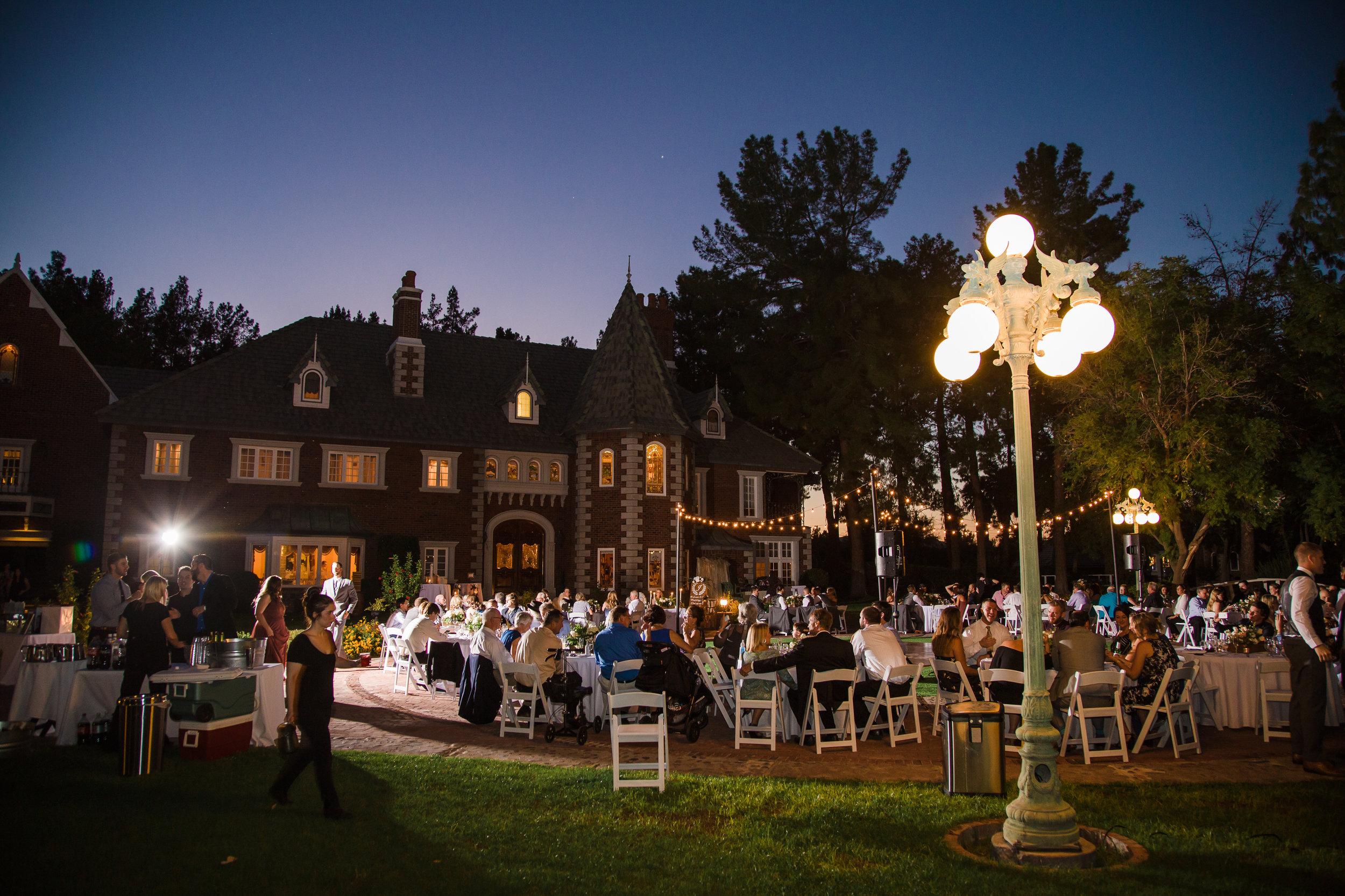 Wedding reception at Chateau de Vie