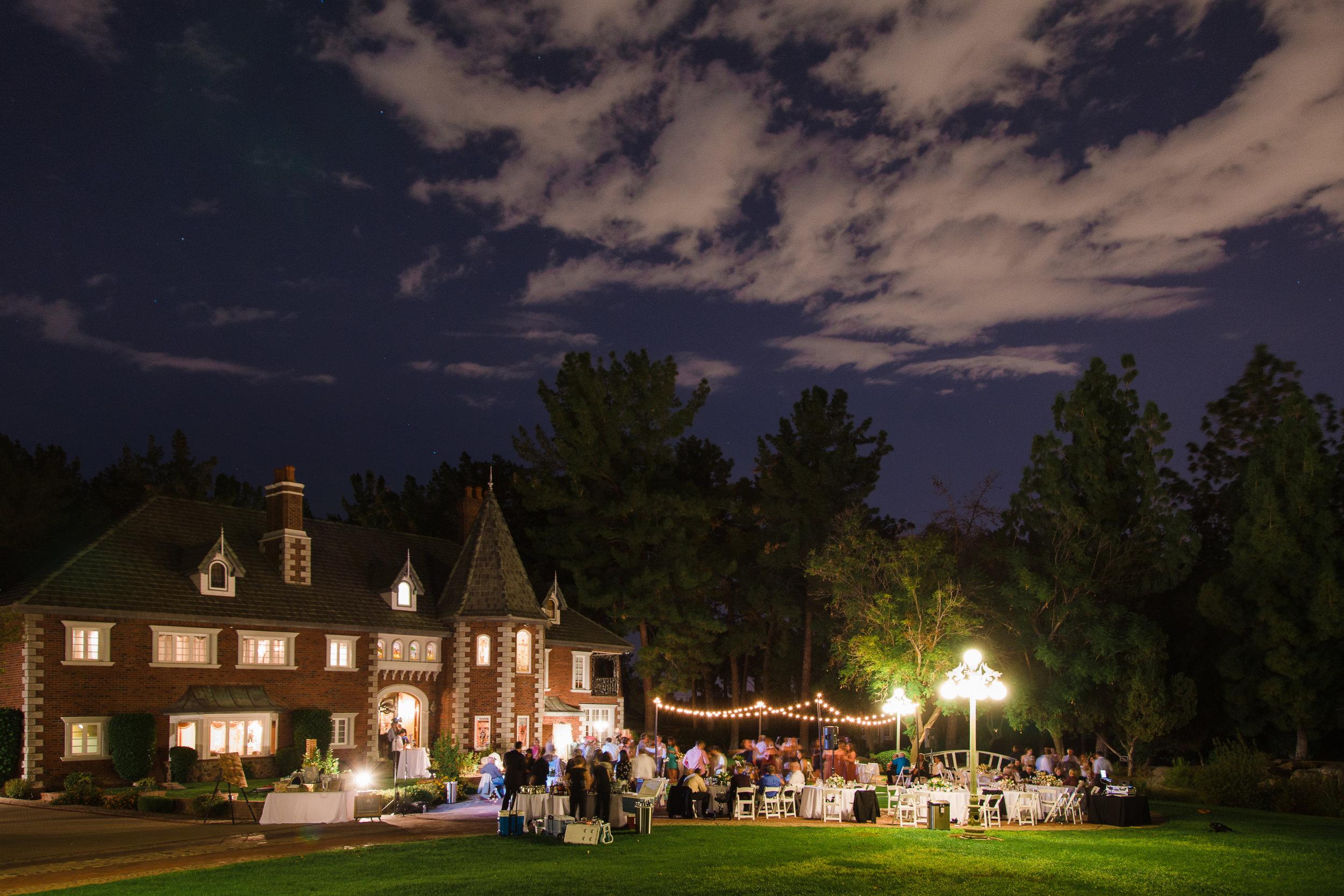 Chateau de Vie wedding, night reception