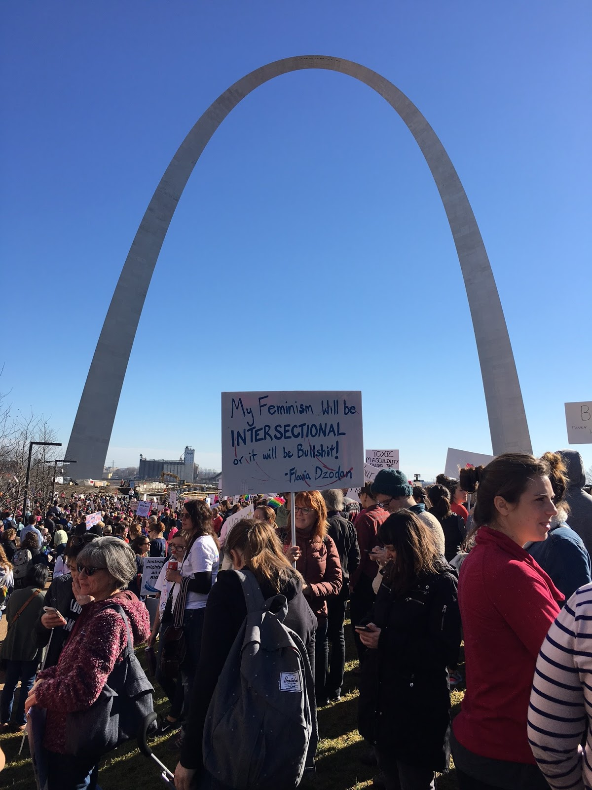 Women's March St. Louis. January 21, 2017. Ely Smith Square, St. Louis, Mo.