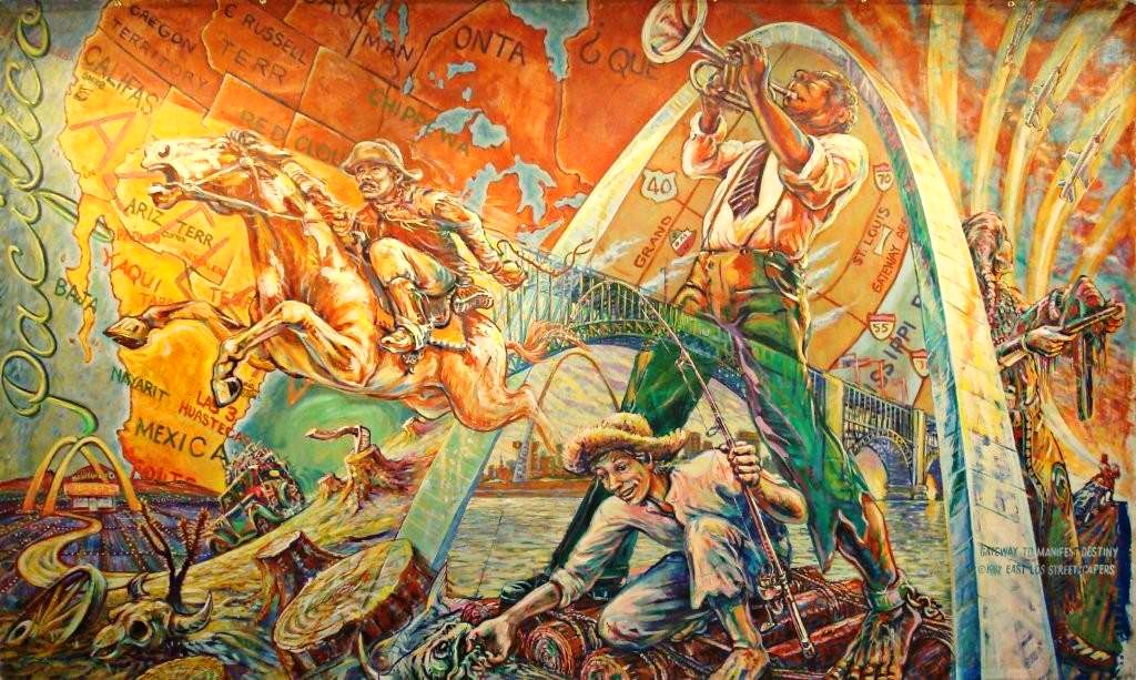 Gateway to Manifest Destiny . Los Angeles, 1982. Mural Conservatory of Los Angeles.