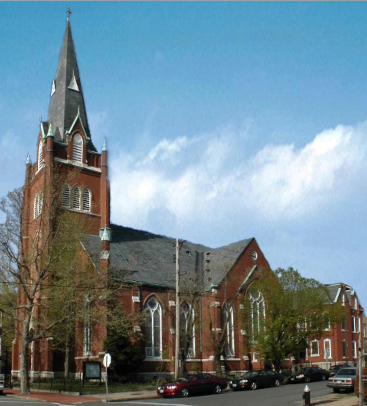 """Holy Trinity Lutheran Church on Soulard Street."" Photo by Ena Kovac, March 18, 2017."