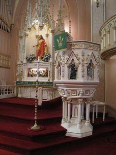 Historic Holy Trinity lectern and altar. 2014. trinitystlouis.com