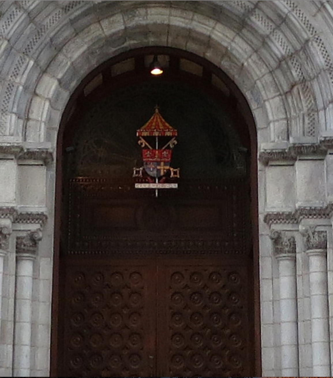 Grand door of the Cathedral Basilica of St. Louis. Photo by Ena Kovac, March 23, 2017.