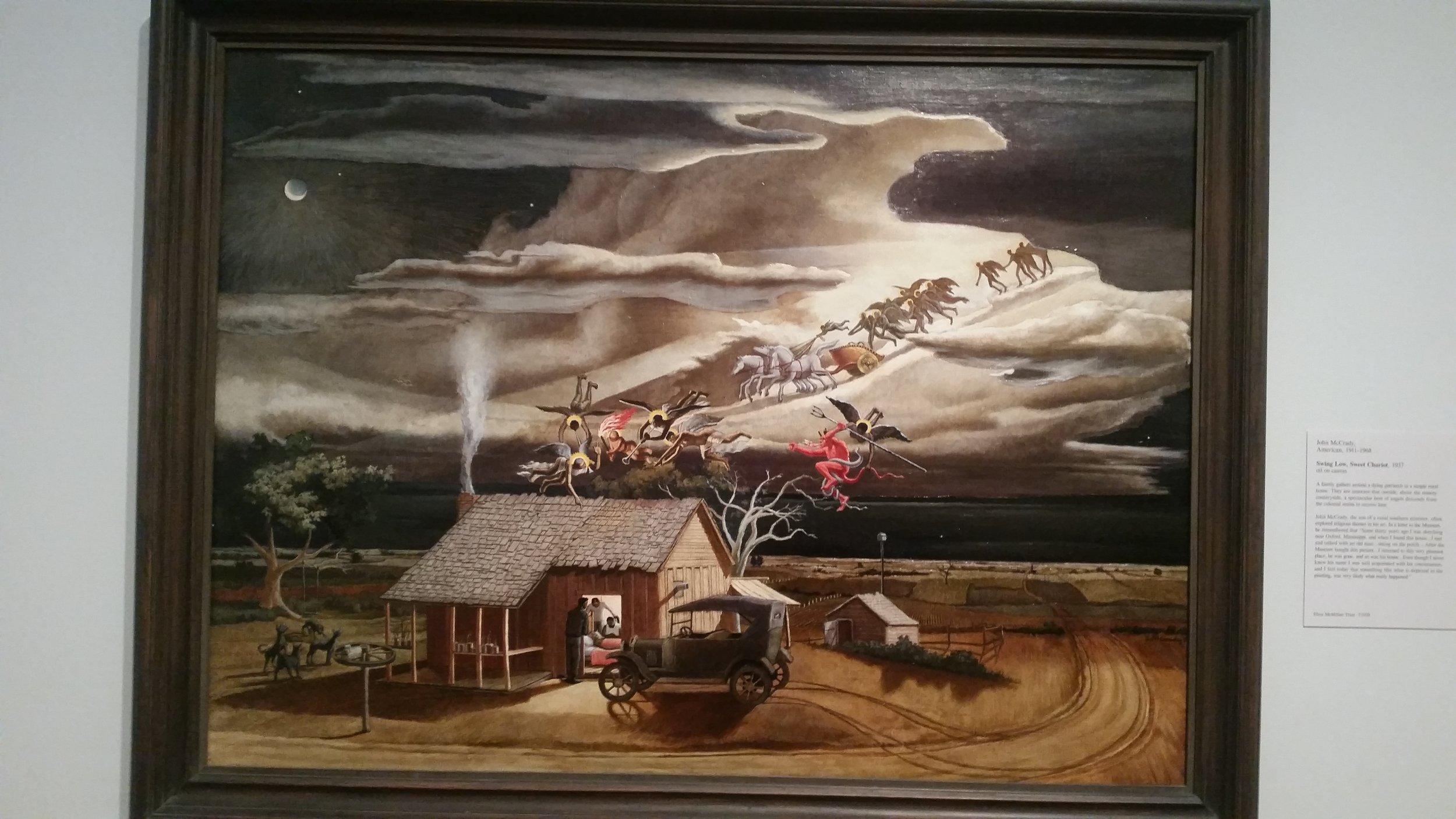 """""""Swing Low, Sweet Chariot"""" by John McCrady, 1937. Saint Louis Art Museum."""