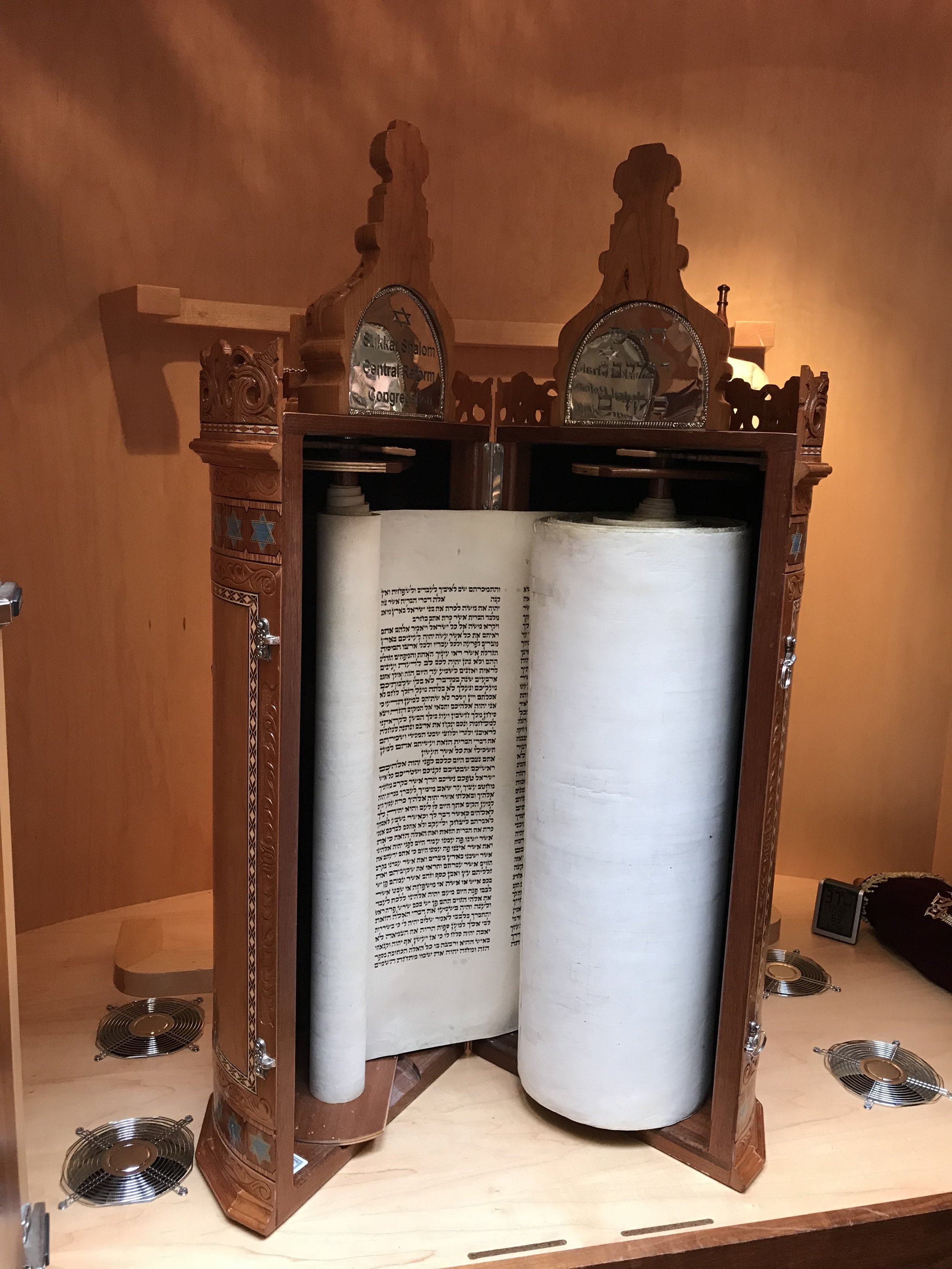 Ark and Torah scroll, Central Reform Congregation, St. Louis, Mo.