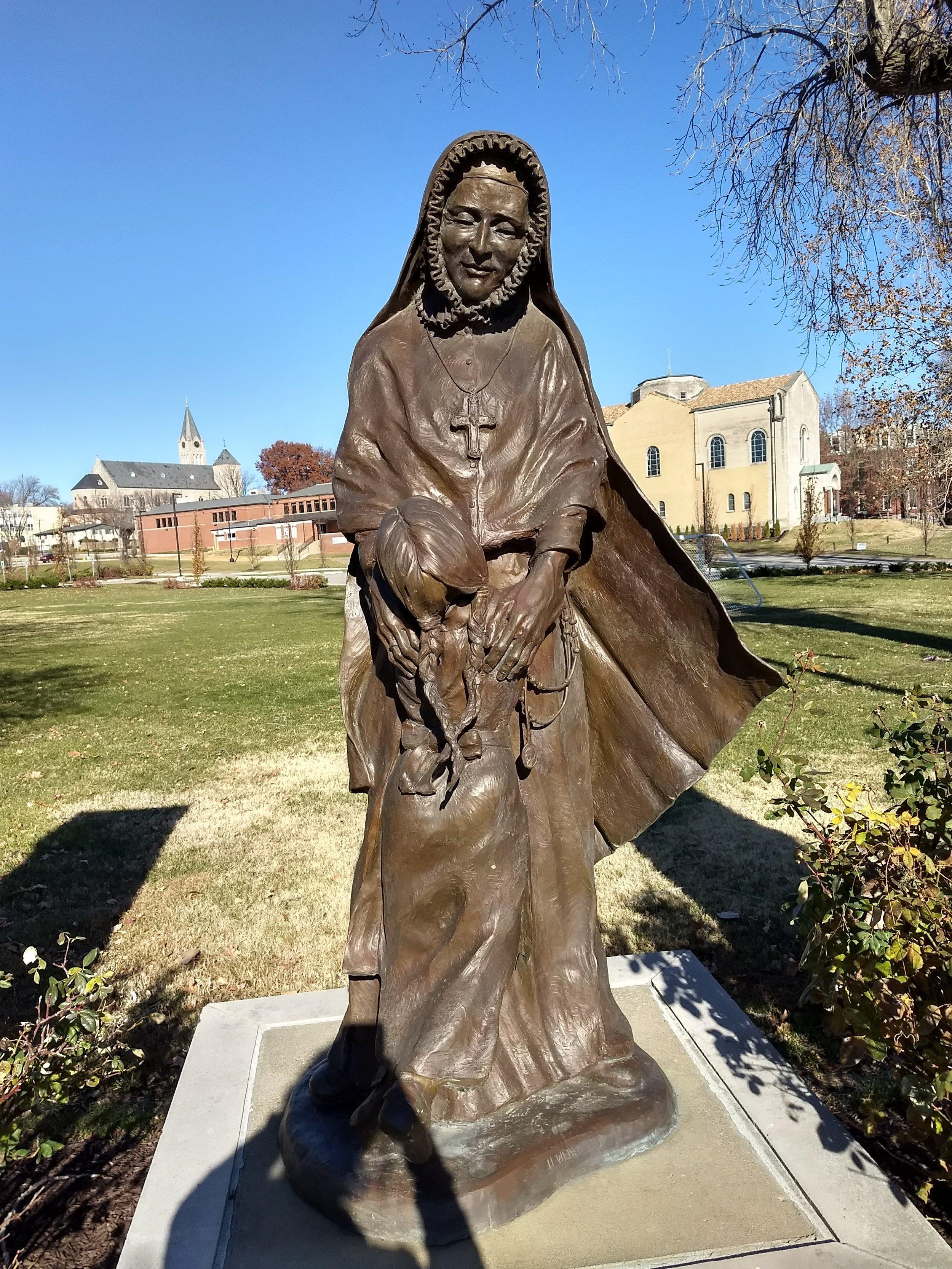 Statue of St. Rose Philippine Duchesne. St. Charles, Mo.