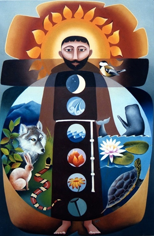 Brother Francis, Canticle of Creation . Acrylic. Nancy Earle, n.d.