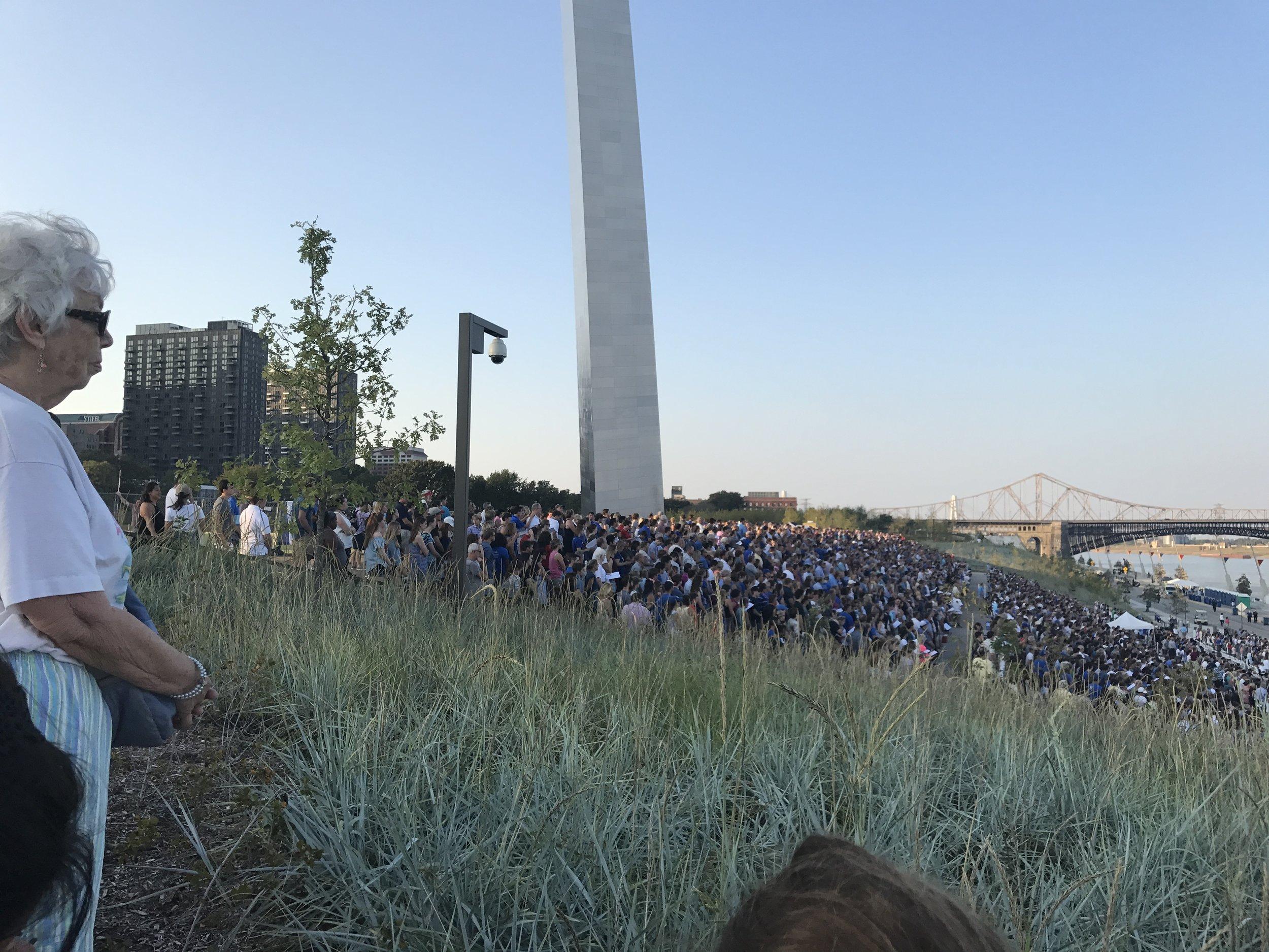 Saint Louis University Bicentennial Mass, Gateway Arch,09/2017.